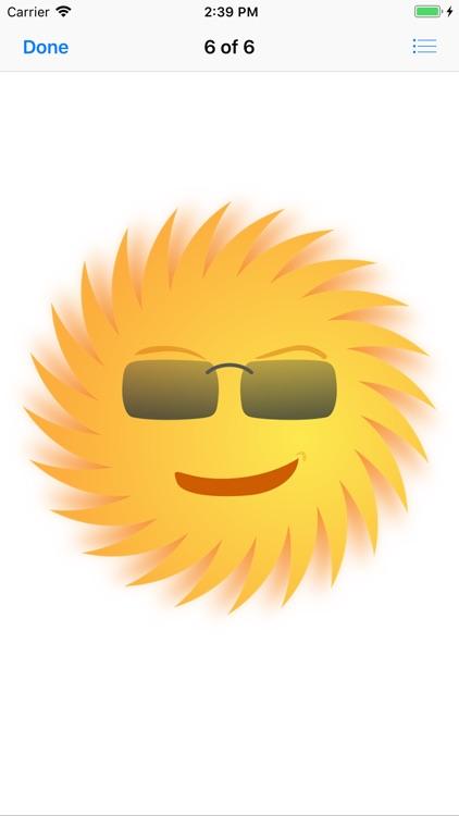 Sunny Sun Stickers screenshot-6