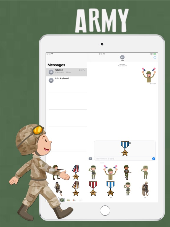 Army Pack Stickers screenshot #2