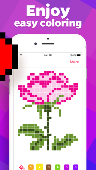 Pixel 2D – color by number screenshot 3