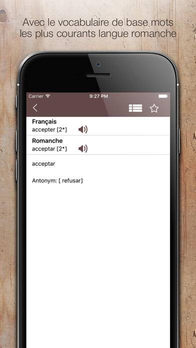 Screenshot for Dictionnaire Romanche Francais in Pakistan App Store