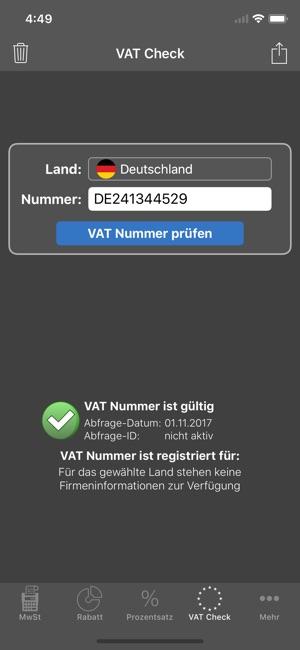 Mobiler Mwst-Rechner im App Store