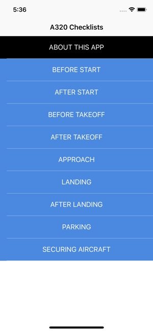 A320 Checklist on the App Store