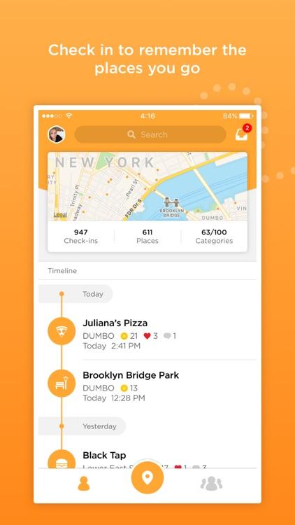 Foursquare Swarm: The Check In App screenshot-0