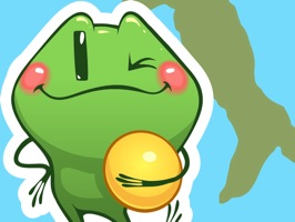 Travel Frog - iMessage Sticker