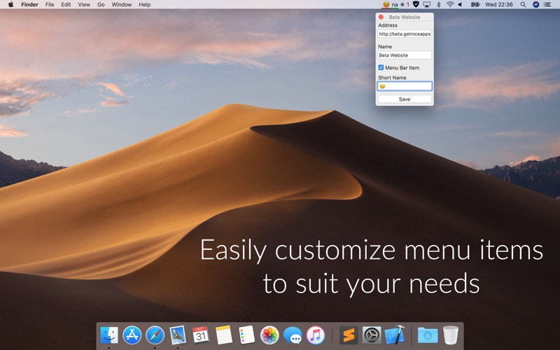Pingey: menu bar website ping Screenshots