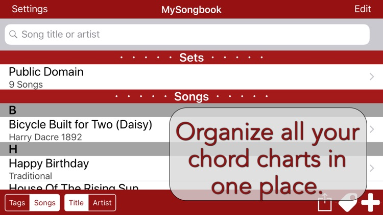 MySongbook - Lyrics and chords screenshot-0