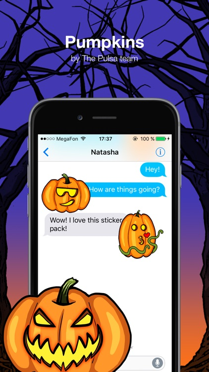 Pumpkins - Halloween stickers screenshot-0