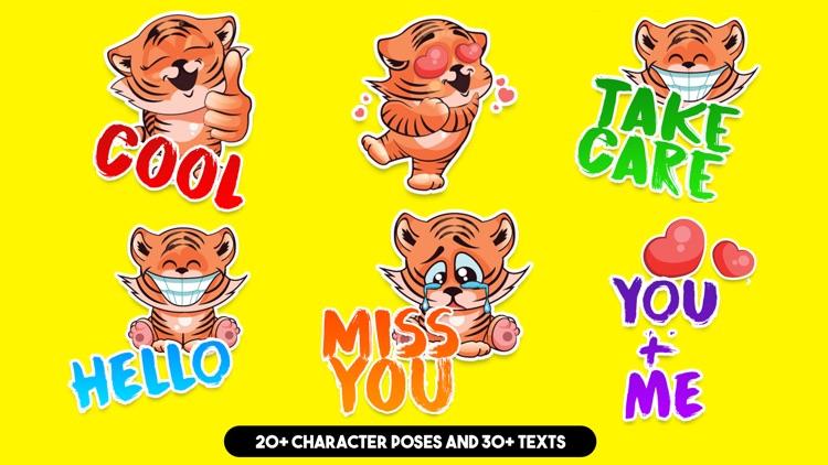 Cute Tiger Sticker Pack!