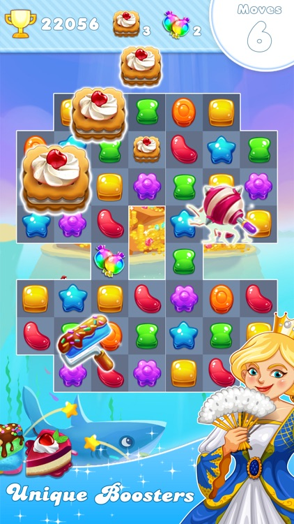 Candy Frozen Match 3 Puzzle screenshot-0