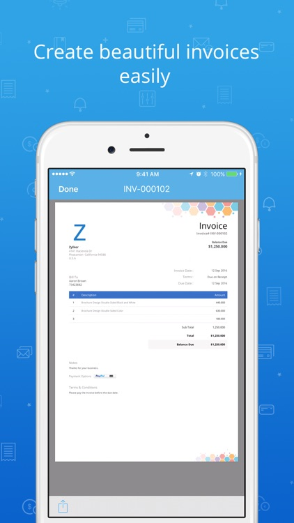 Invoice & Time Tracking - Zoho