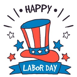 Labor day 2017 Sticker Celebration pack