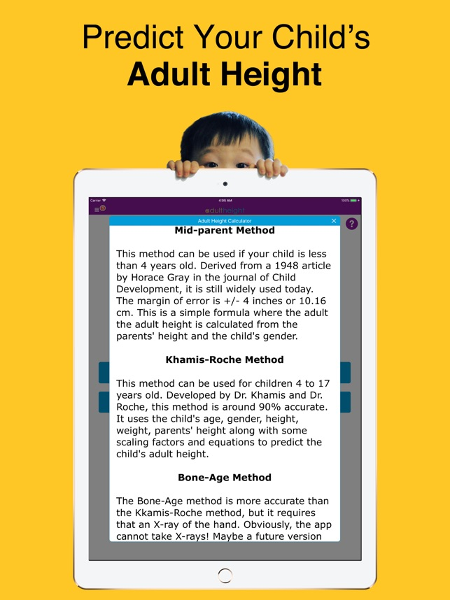 Height Predictor Calculator on the App Store
