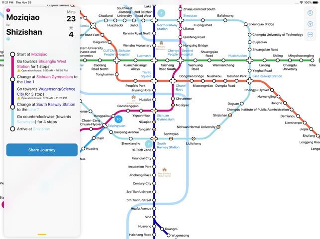 Chengdu Subway Map New Station.Chengdu Metro Map On The App Store
