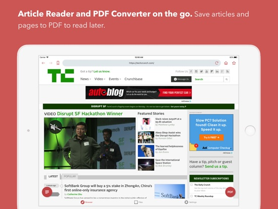 InstaWeb: Web to PDF Converter Screenshot