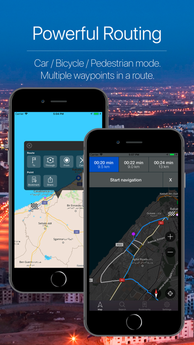 Morocco Offline Navigation Screenshot