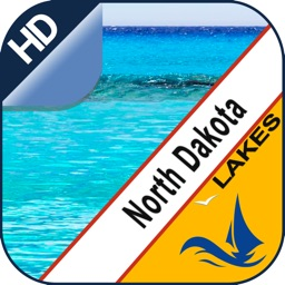 North Dakota offline nautical charts for boating