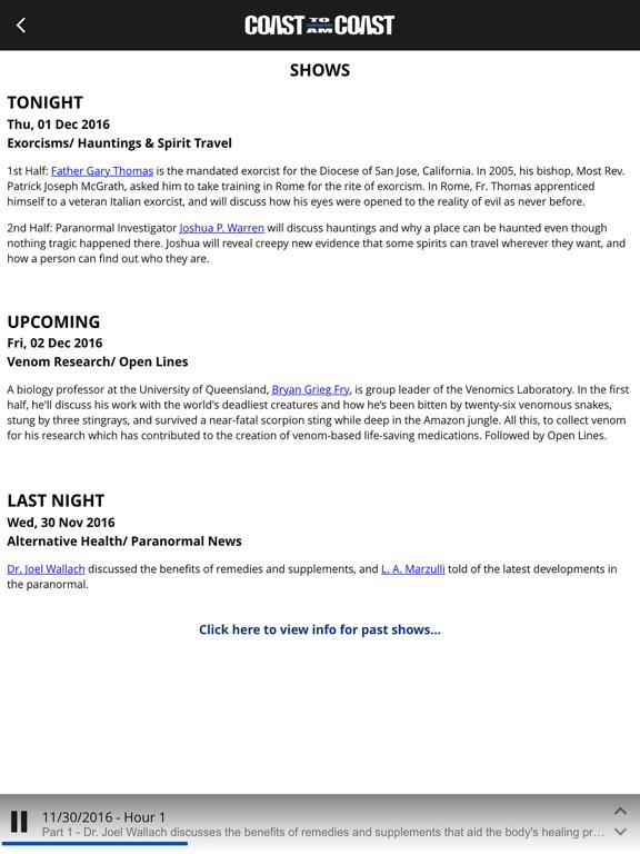 Coast to Coast AM Insider - Revenue & Download estimates - Apple App