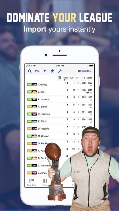 Fantasy Football Draft 2018 Screenshot