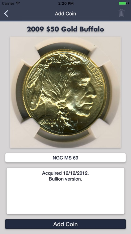 American Gold Buffalo - Coin Collection Tracker screenshot-4