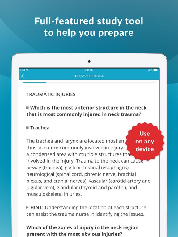 TCRN Trauma Nurse Exam Prep screenshot 10