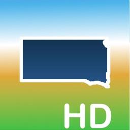 Aqua Map South Dakota Lakes HD