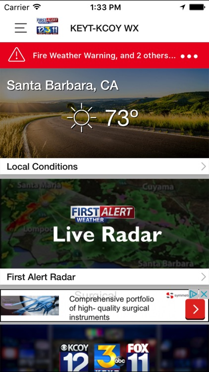 KEYT-KCOY-KKFX First Alert Wx screenshot-1
