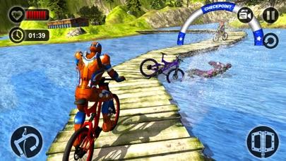 Offroad Superhero Bicycle Race screenshot three