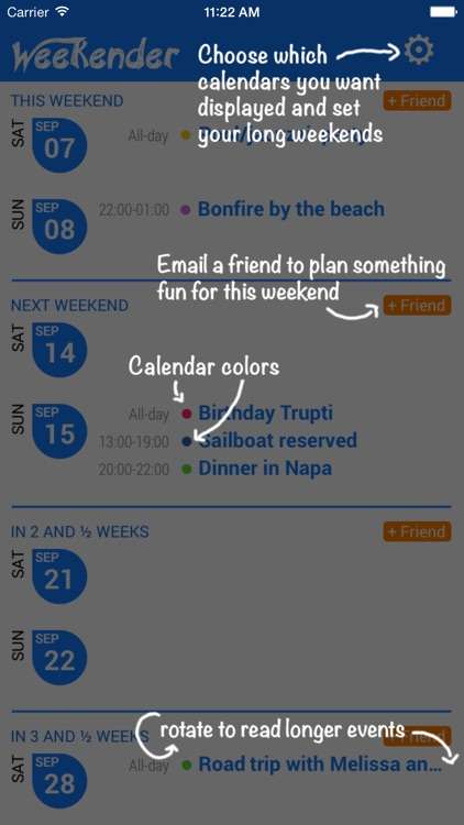 Weekender - Weekend Calendar screenshot-2