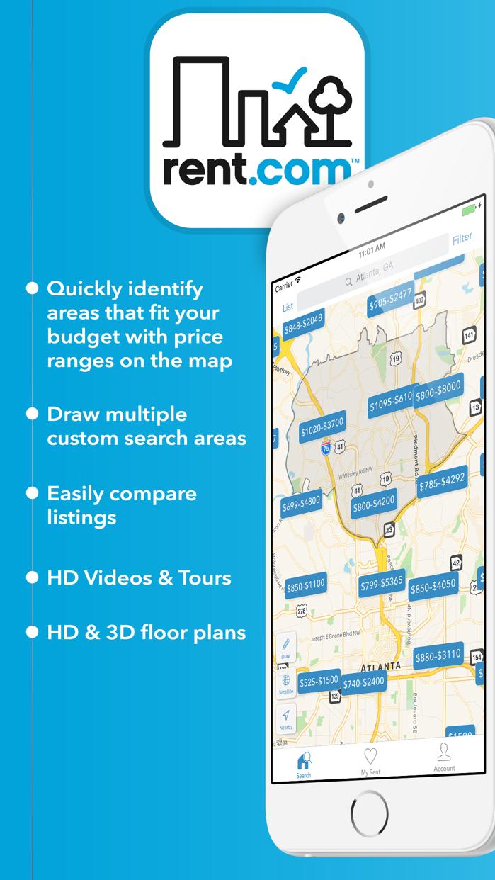 Rent.com Apartments & Homes Screenshot