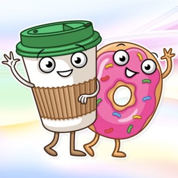 Donut And Coffee! Stickers