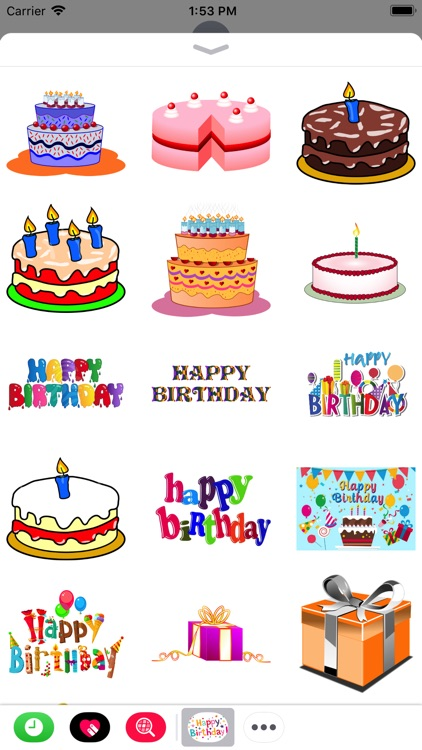 Happy Birthday Stickers 2017