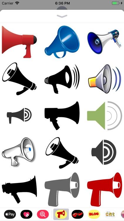 Megaphone Stickers