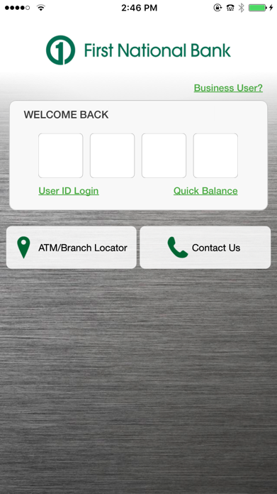 First National Bank of Omaha Screenshot