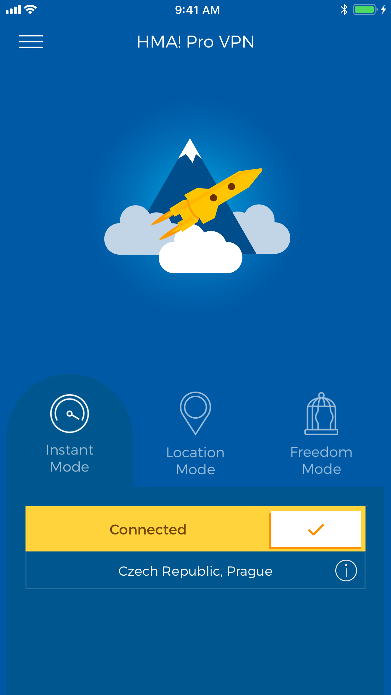 HMA! Hotspot VPN & Proxy Screenshot