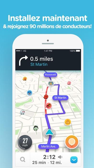 Screenshot for Navigation Waze & Trafic Live in France App Store