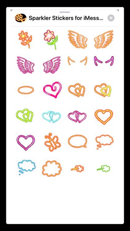 Sparkler Stickers for iMessage screenshot-3