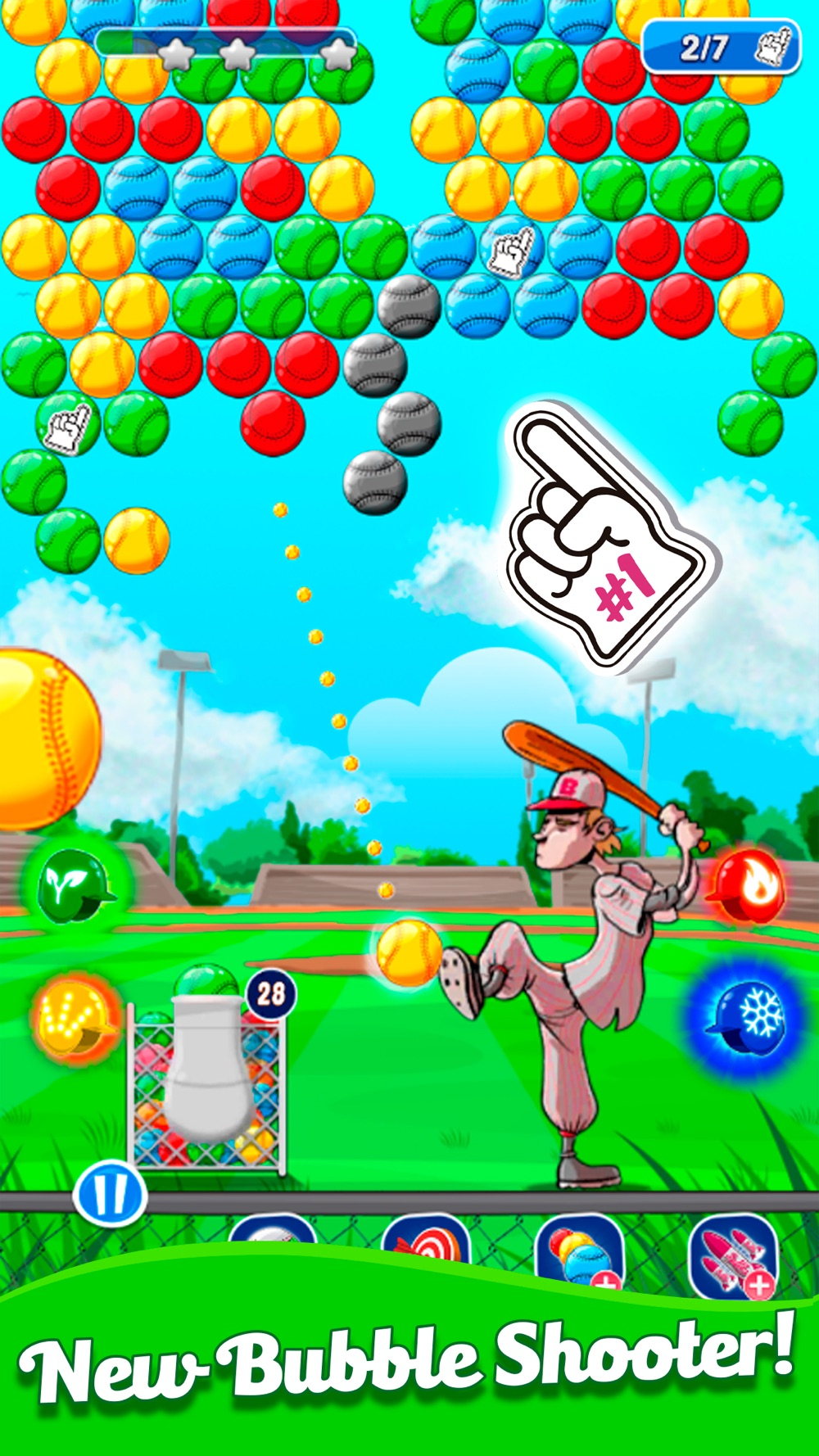 Baseball Bubble Shooter Cheat Codes