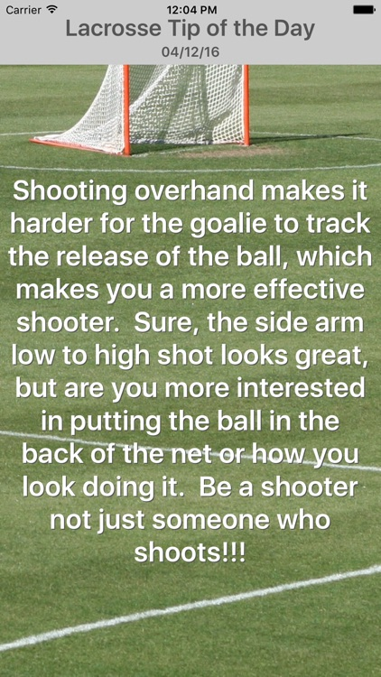 Lacrosse Tip of the Day