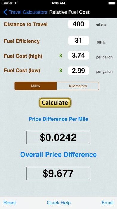 Automobile Trip Calculators review screenshots