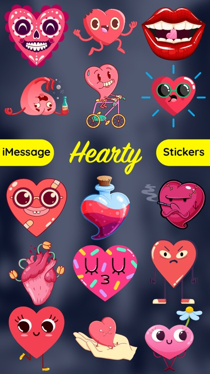 Hearts Emoji Funny Texting App