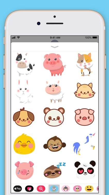 Cute Animals Kawaii Stickers screenshot-4