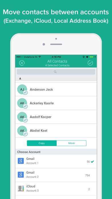 Contacts Data Backup Assistant app image