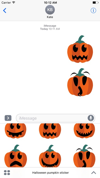 Pumpkin emoji & stickers