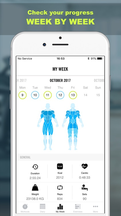Workout Calendar App : Gym life workout schedule by nicola eusebi