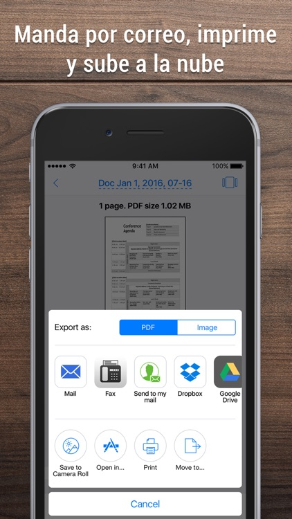 iScanner - Escáner PDF y fotos