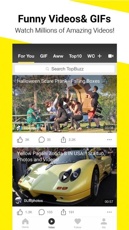 TopBuzz: Viral Videos & News screenshot-0