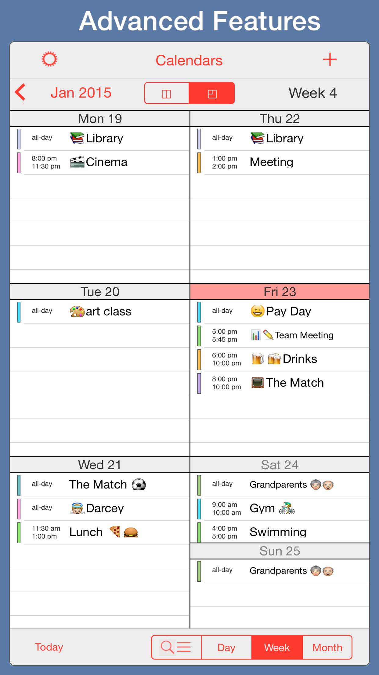 PocketLife Calendar Screenshot