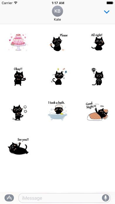 Baby Black Cat Sticker screenshot three