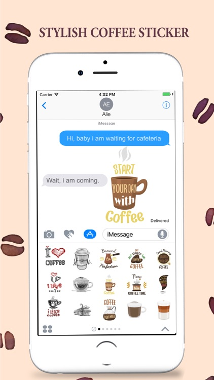 Coffee Stickers Pack for iMessage screenshot-4