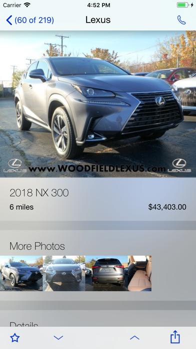 Woodfield Lexus DealerApp screenshot three
